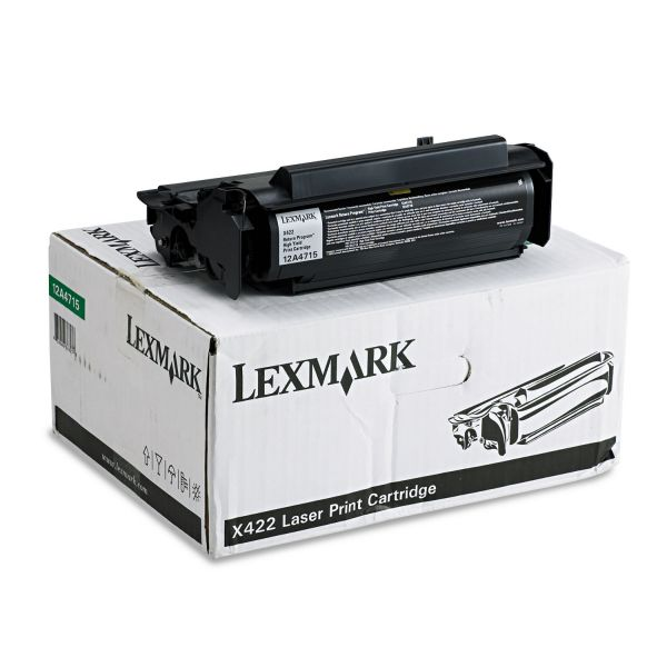 Lexmark 12A4715 Black High Yield Return Program Toner Cartridge