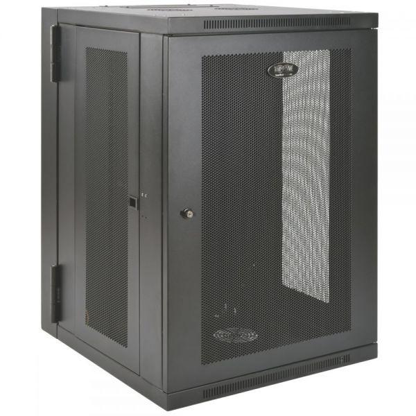 Tripp Lite 18U Wall Mount Rack Enclosure Server Cabinet Swinging Hinged Door Deep