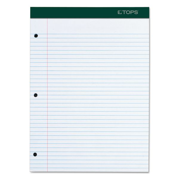 TOPS Double Docket Letter-Size White Legal Pad
