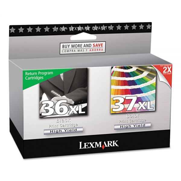 Lexmark #36XL/#37XL High Yield Combo Pack Ink Cartridges (18C2249)