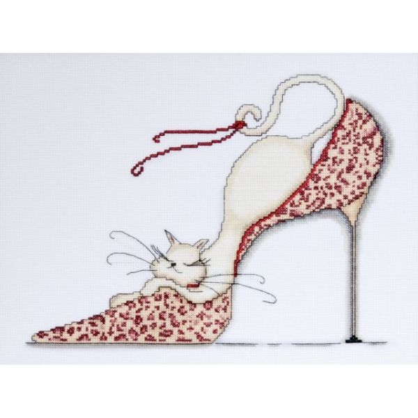 Leopard Shoe Counted Cross Stitch Kit