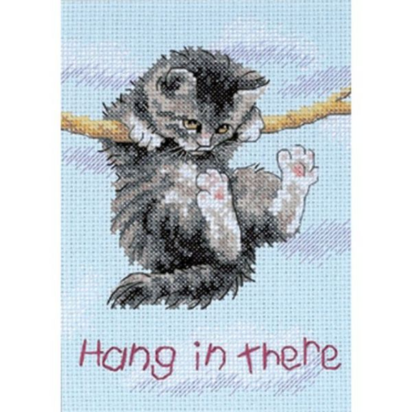 Dimensions Jiffy Hang On Kitty Mini Counted Cross Stitch Kit