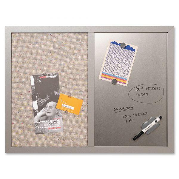 MasterVision Combo Dry Erase/Fabric Bulletin Board