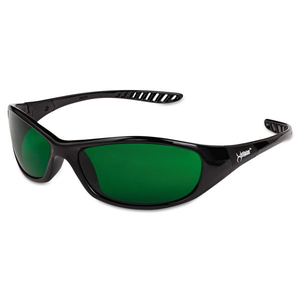 Jackson Safety* V40 HELLRAISER Safety Eyewear, Black Frame, IR/UV 3.0 Lens