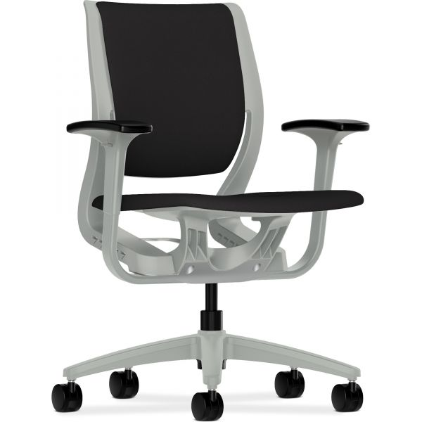 HON Purpose Series Mid-Back Chair with Platinum Frame