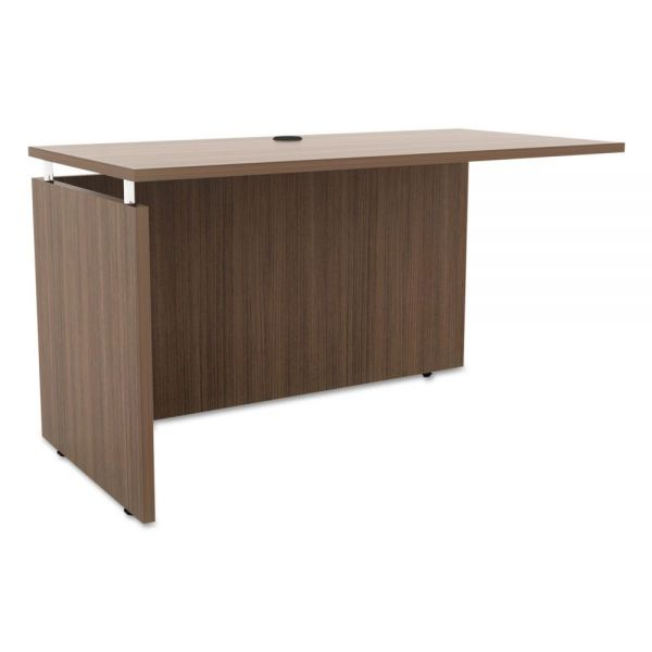 Alera Alera Sedina Series Reversible Return/Bridge, 47 1/4 x 23 5/8 x 29 1/2, Walnut