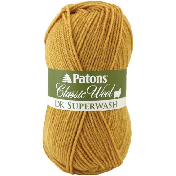 Patons Classic Wool DK Superwash Yarn - Gold