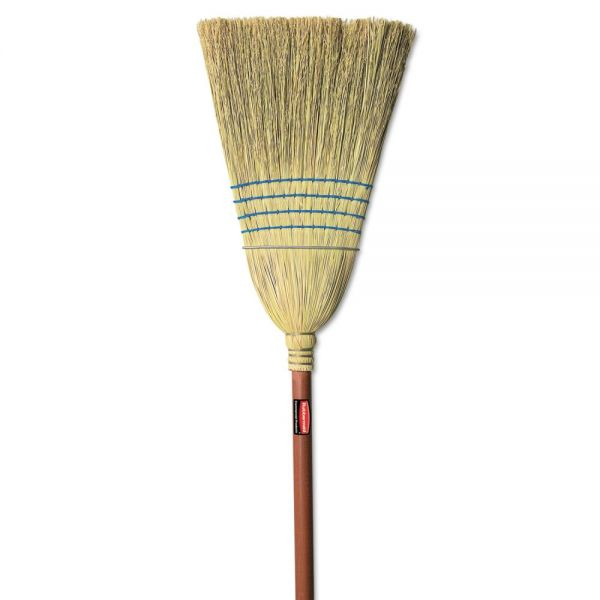 Rubbermaid Commercial Warehouse Corn-Fill Broom, 38-in Handle, Blue