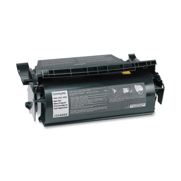 Lexmark 12A6869 Black High Yield Return Program Toner Cartridge