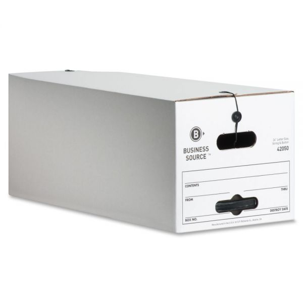 Business Source Light-Duty String & Button Storage Boxes