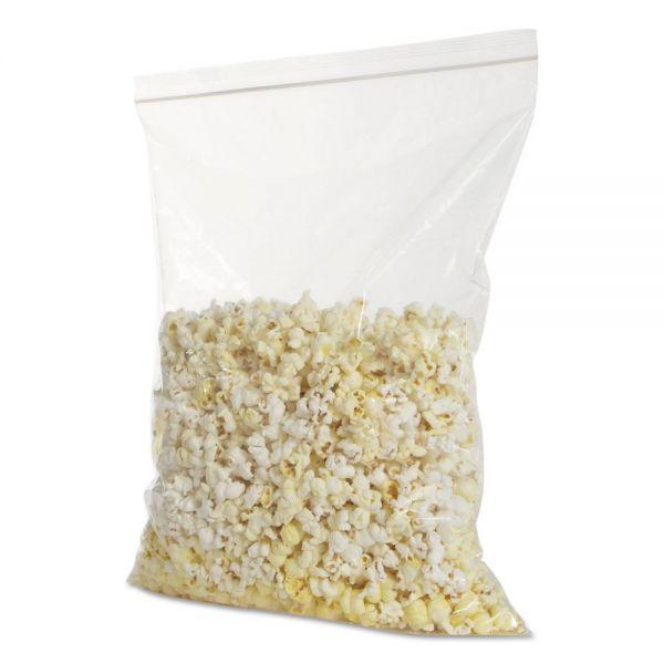 BagCo Zippit Resealable Bags, 4 mil, 10w x 13h, Clear, 500 per Carton