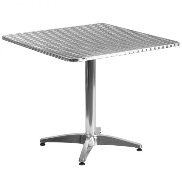 Flash Furniture 31.5'' Square Aluminum Indoor-Outdoor Table with Base