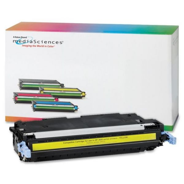 Media Sciences Remanufactured HP 502A Yellow Toner Cartridge