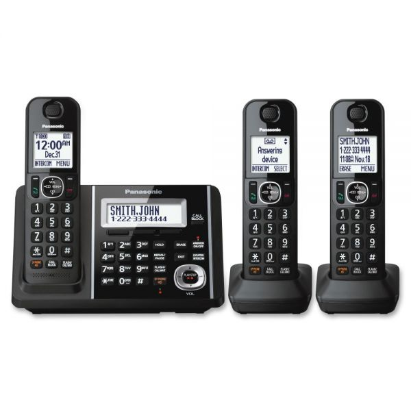 Panasonic KX-TGF343B DECT Cordless Phone - Black