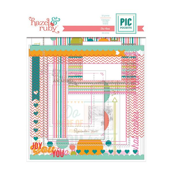Pic Pockets Die-Cut Cardstock Embellishments 6/Pkg