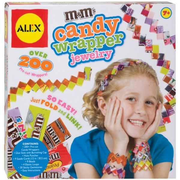 ALEX Toys Do-It-Yourself Wear M&M's Candy Wrapper Jewelry Kit
