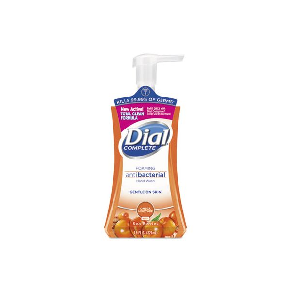 Dial Antibacterial Foaming Hand Wash, Sea Berries, 7.5 oz Pump Bottle