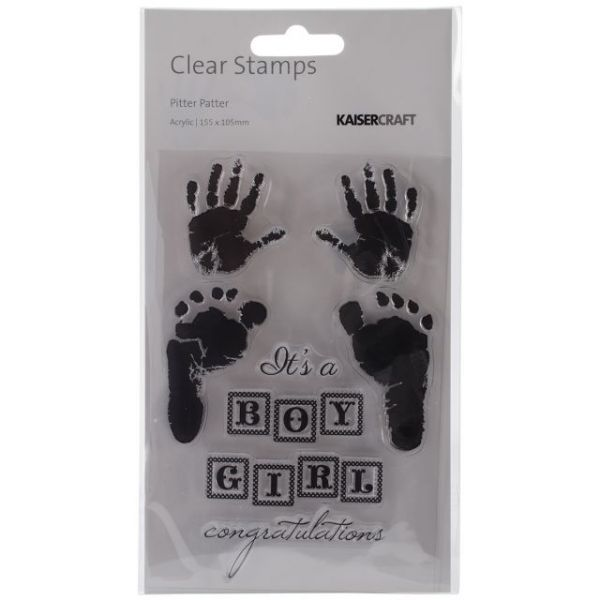 """Pitter Patter Clear Stamps 6.25""""X4"""""""