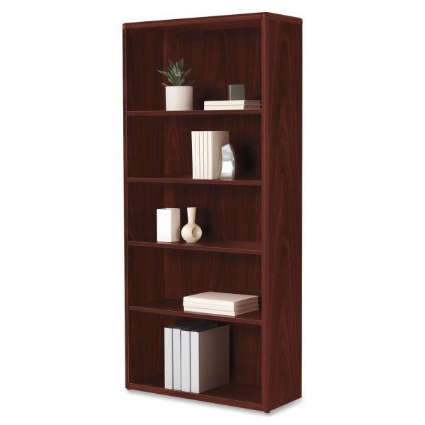 HON 10700 Series Adjustable 5-Shelf Laminate Bookcase