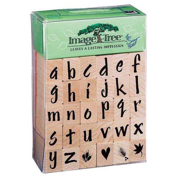 Image Tree Handle Rubber Stamp Set