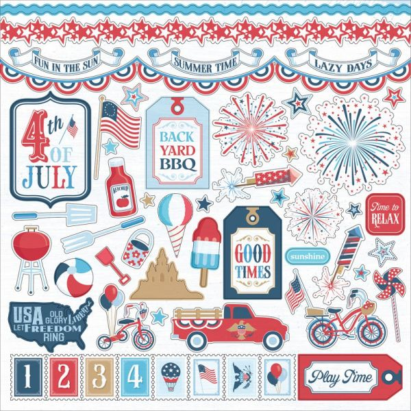 "Main St. Parade Stickers 12""X12"""