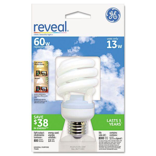 GE Energy Smart Compact Fluorescent Spiral Light Bulb, Spiral, 13 Watts