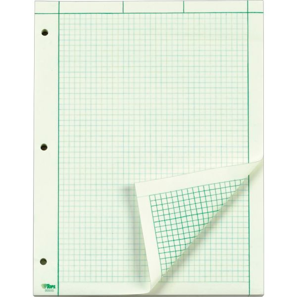 TOPS Green Tint Engineering Computation Pad - Letter