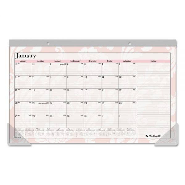 AT-A-GLANCE Sorbet Compact Monthly Desk Pad Calendar