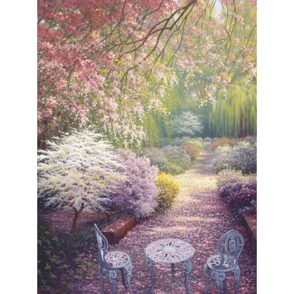 Cherry Blossoms Counted Cross Stitch Kit
