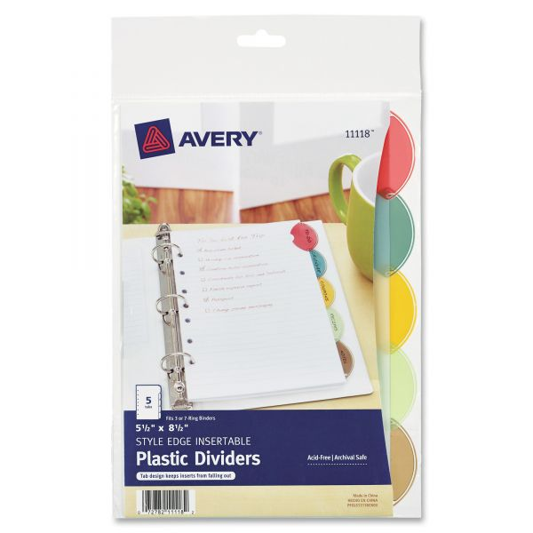 "Avery Insertable Style Edge Tab 5.50"" x 8.50"" Index Dividers"