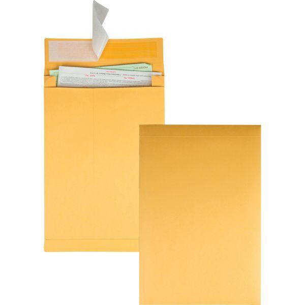 Quality Park Redi Strip Kraft Expansion Envelope, 10 x 13 x 2, Brown, 25/Pack