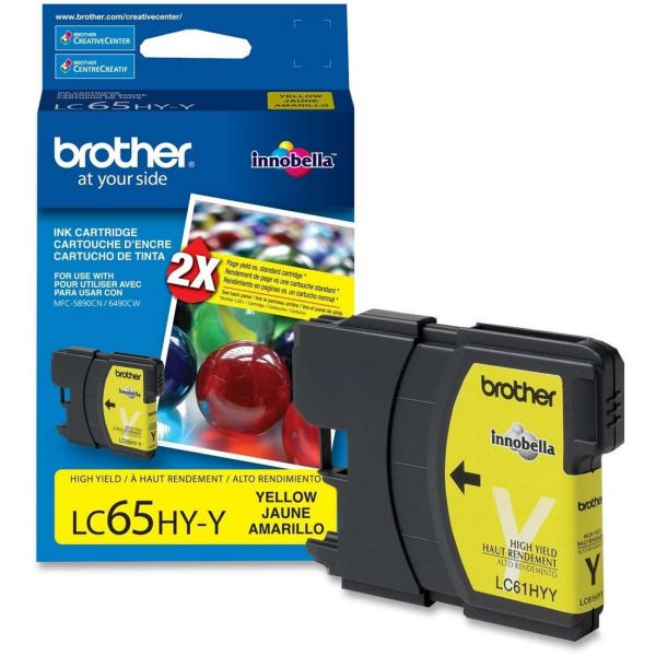 Brother LC65HYY Yellow High Yield Ink Cartridge