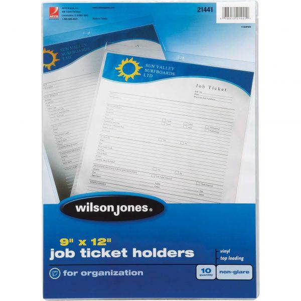 Wilson Jones Job Non-Glare Ticket Holders