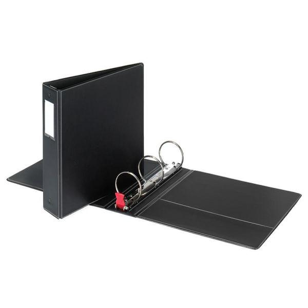 """Cardinal Premier Easy Open Locking 3-Ring Binder, 2"""" Capacity, Round Ring, Black"""