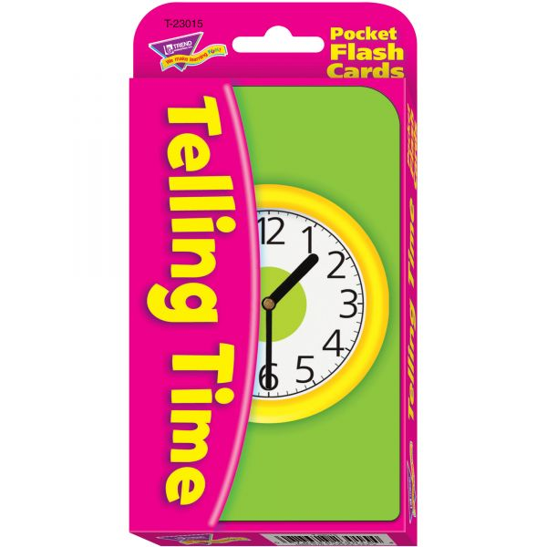 Trend Telling Time Flash Cards