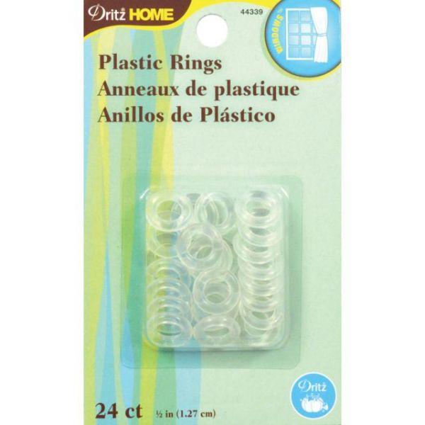 """Plastic Rings 1/2"""" 24/Pkg"""