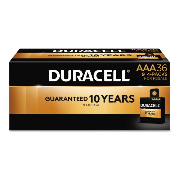 Duracell CopperTop Alkaline Batteries, AAA, 36/PK