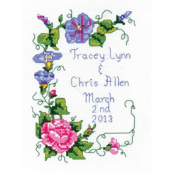 Wedding Floral Mini Counted Cross Stitch Kit