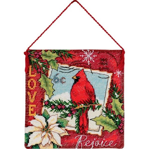 Gold Petite Love Ornament Counted Cross Stitch Kit