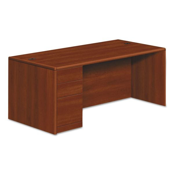 "HON 10700 Series Left Pedestal Desk | 2 Box / 1 File Drawer | 72""W"