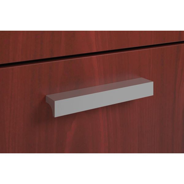 HON Foundation Series Field Installed Contemporary Pull | Silver | 2-Pack