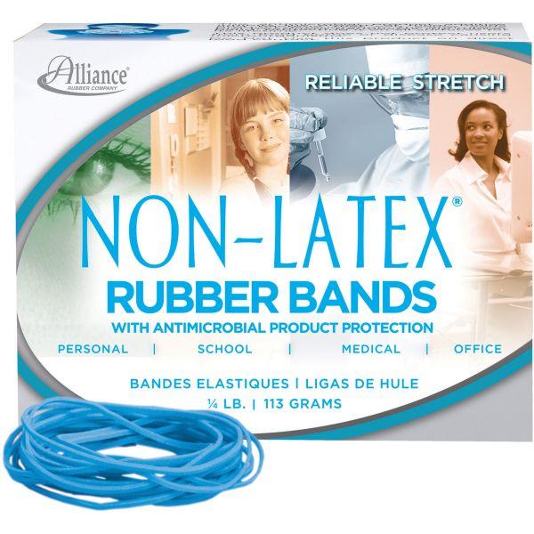 Alliance Antimicrobial Non-Latex Rubber Bands, Sz.19, 3-1/2 x 1/16, 1/4lb Box