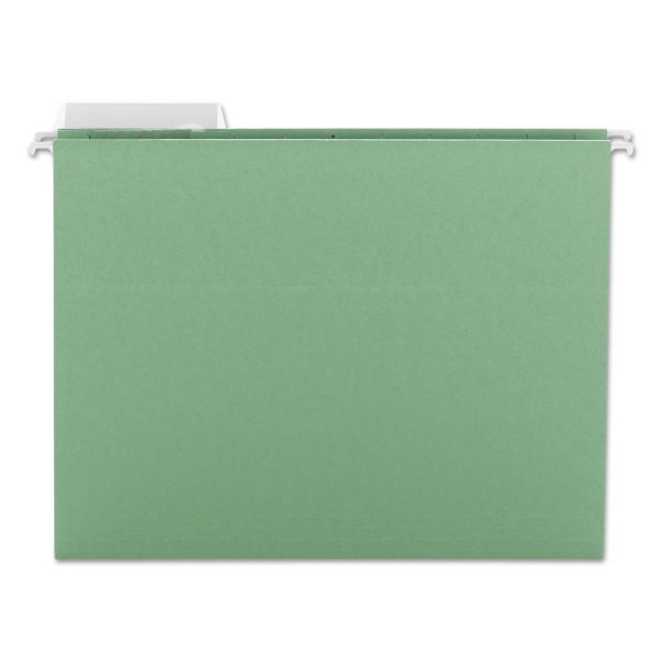 Smead Color Hanging Folders with 1/3-Cut Tabs, 11 Pt. Stock, Green, 25/BX