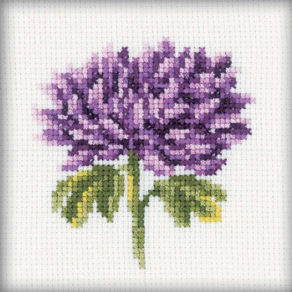Chrysanthemums Counted Cross Stitch Kit