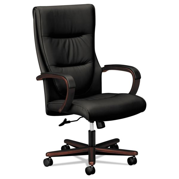 Basyx by HON HVL844 High-back Wood Base Executive Office Chair