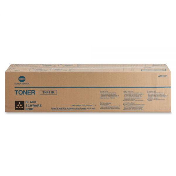 Konica Minolta TN-411K Original Toner Cartridge - Black