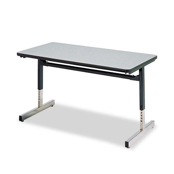 8700 Series Rectangular Activity Table, 24 x 36 x 22 to 30h, Gray Nebula Finish