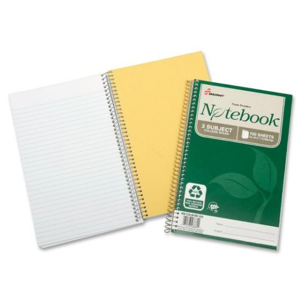 SKILCRAFT 3-Subject Spiral Notebook