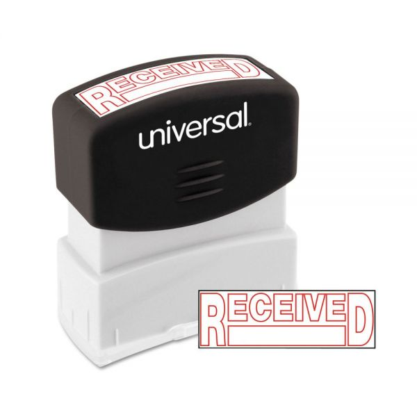 Universal Message Stamp, RECEIVED, Pre-Inked One-Color, Red