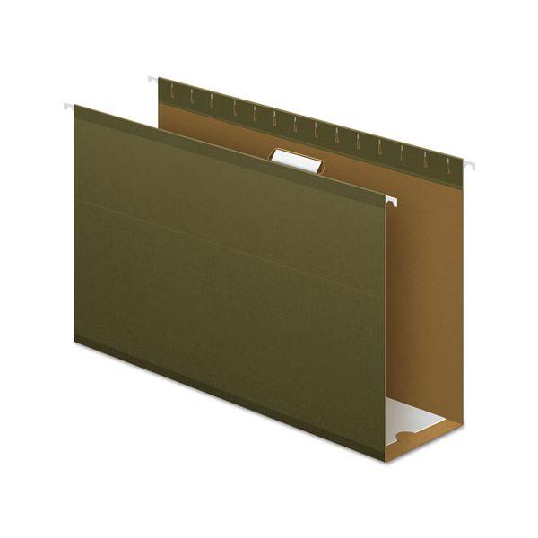 "Pendaflex Reinforced 4"" Extra Capacity Hanging Folders, Legal, Standard Green, 25/Box"